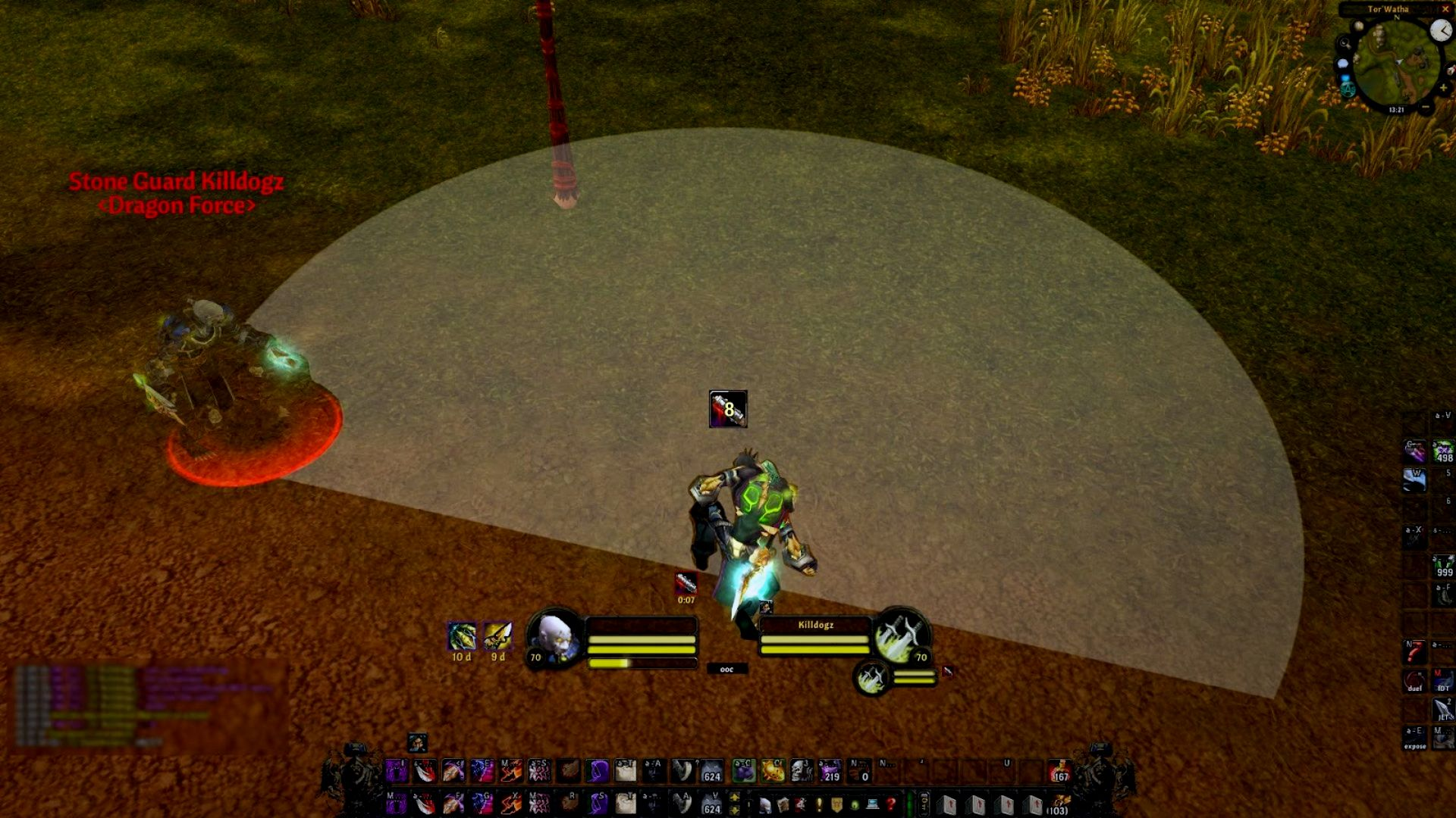 Stealthed rogue cone of vision on wow classic TBC