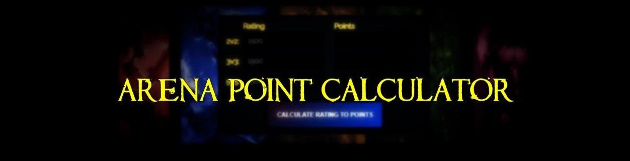 arena point calculator tbc classic