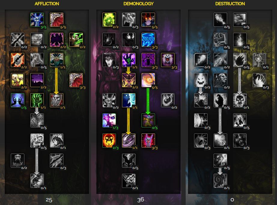 rogue warlock specialization